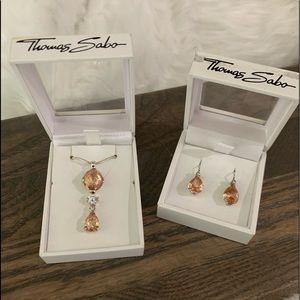 Thomas Sabo Silver Topaz Crystal Necklace/Earrings